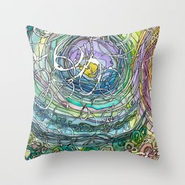 Watercolor Loe Throw Pillow