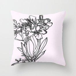 flower in black ink Throw Pillow