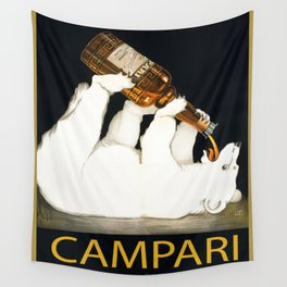 Vintage 1928 Campari Polar Bear Alcoholic Bitters Advertisement by Franz Laskoff Wall Tapestry