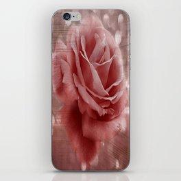 Vintage Dusty Rose iPhone Skin