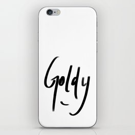 goldy typography iPhone Skin