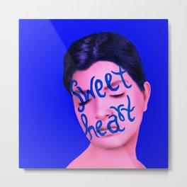Sweet Heart / Faux Real Metal Print