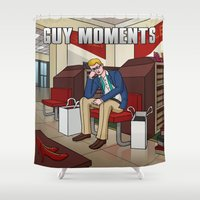 shoe Shower Curtains featuring Shoe shopping by Guy Moments