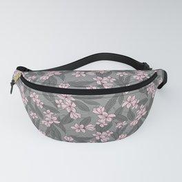 Sakura Branch Pattern - Ballet Slipper + Neutral Grey Fanny Pack