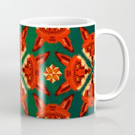 Fox Cross geometric pattern Coffee Mug