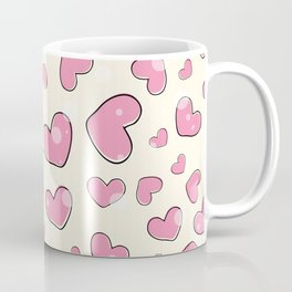 Little hearts in a yellow background Coffee Mug