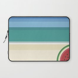 The watermelon on the beach Laptop Sleeve