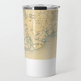 Vintage Map of Barnstable Massachusetts (1893) Travel Mug