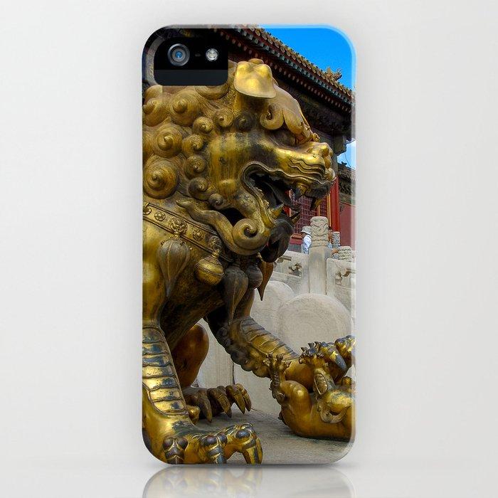 Mother Lion. Beijing Forbidden Palace. iPhone Case
