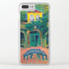 """Koloman Moser """"Yellow house in a landscape"""" Clear iPhone Case"""