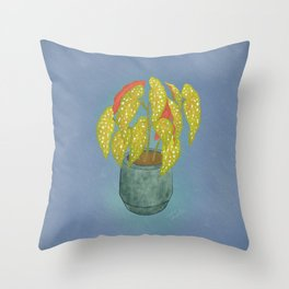 Polka Dot Begonia  Throw Pillow