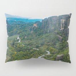 Meteora Monastery Landscape Pillow Sham