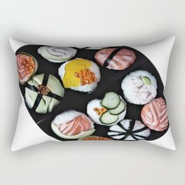 Sushi Temari prawns tuna mega pack dinner offer Rectangular Pillow