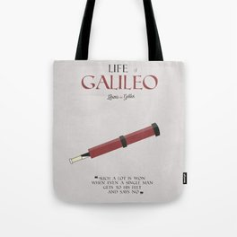 Life of Galileo Galilei, Bertolt Brecht, book cover, classic novel, play, poster, penguin, theatre Tote Bag