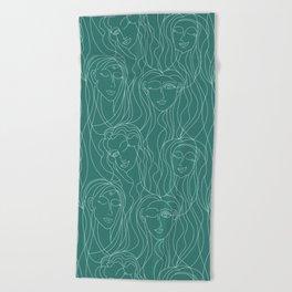 Green Ladies Beach Towel
