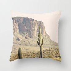 Superstitious Mountain Throw Pillow