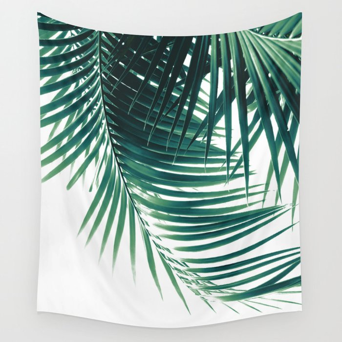 Palm Leaves Green Vibes #4 #tropical #decor #art #society6 Wall Tapestry