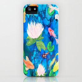 Koi Fish alcohol ink iPhone Case