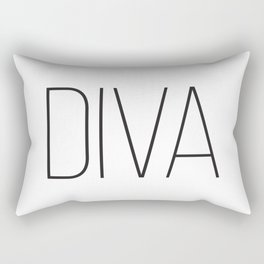 One Word Signs, Diva, igital Quotes, Affiche Scandinave, Fashion Wall Art, Modern Minimalist Rectangular Pillow