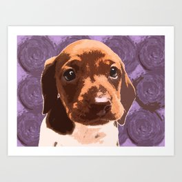 """Chupa Chup"" ~ Dachshund, Weiner Dog, Doxie, everywhere!   Art Print"