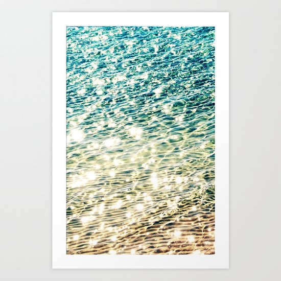 Sparkling water- for iphone Art Print