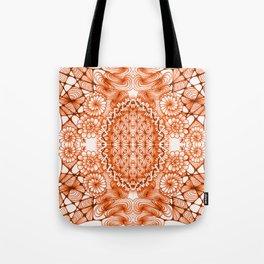 Orange Zentangle Tile Doodle Design Tote Bag