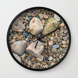 Crab Beach Pebbles Wall Clock