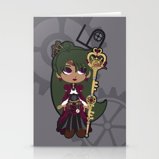 Steampunk Sailor Pluto - Sailor Moon Stationery Cards
