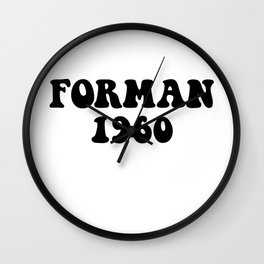Eric Forman 1960 Wall Clock