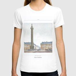 Paris art print Paris Decor office decoration vintage decor PLACE VENDOME of Paris T-shirt