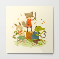 Counting with Barefoot Critters Metal Print