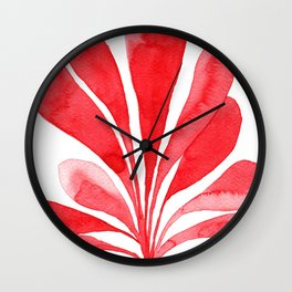 Underwater Botanical Red no. 1 Wall Clock