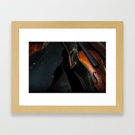 Old Violin Framed Art Print