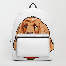 Cocker Spaniel Dog Puppy Doggie funny present Backpack