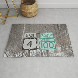 Vermont Street Signs Rug