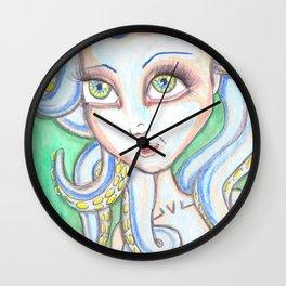 Octopus Mermaid Wall Clock