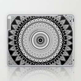 Black and White Mandala Two Laptop & iPad Skin