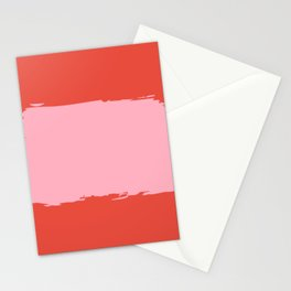 Crimson Swatch Stationery Cards