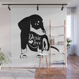 Dachshund Canvas Wall Mural