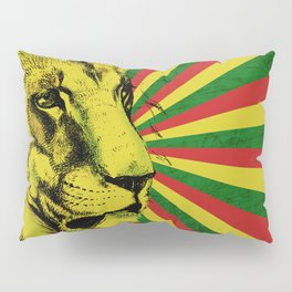 Rasta Lion / Rastafarian Red Gold Green Lion Pillow Sham