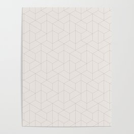 Hexagonal Geometric Pattern Poster