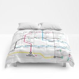 Kuwait City Metro Map Comforters