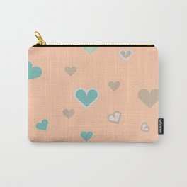 Love Mint and Peaches Carry-All Pouch