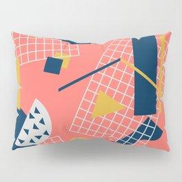 Neon Coral Memphis Toss - Limited Color Palette 2019 Pillow Sham
