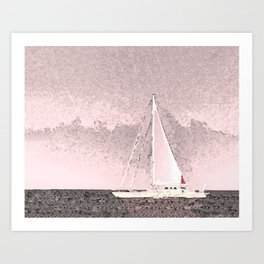 """Sailboat #8"" Art of the Sea by Murray Bolesta Art Print"