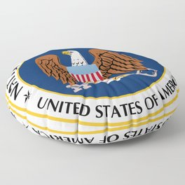 Seal of the National Security Agency Floor Pillow