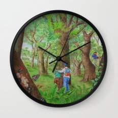 A Day of Forest (3). (Observe the tree) Wall Clock