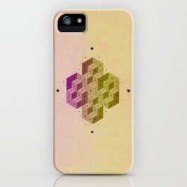 Cubic Totems iPhone Case