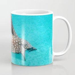 Watercolor Ray, Spotted Eagle Ray 04, St John, USVI Coffee Mug