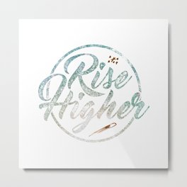 Rise Higher Shooting Star Metal Print